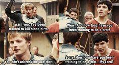 Oh Merlin, you're too funny. This was when I fell in love with Merlin Merlin Funny, Merlin Merlin, Watch Merlin, Merlin Memes, Merlin Season 1, It's Over Now, Merlin Fandom, Merlin And Arthur, King Arthur