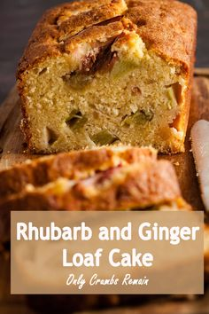 An easy to make loaf cake with warming ginger notes and the delicious tangy pieces of rhubarb. #Onlycrumbsremain #loafcake #everydaycake #easycake #rhubarb Best Rhubarb Recipes, Banana Recipes, Easy Cake Recipes, Healthy Recipes, Moist Bread Recipe, Ginger Loaf Cake, Angel Food Cake Desserts, Pumpkin Banana Bread, Rhubarb Cake