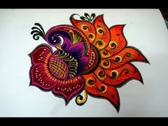 latest and beautiful peacock rangoli designs| innovative multicolor peac...