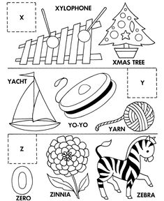 ABC Alphabet Matching Activity Sheet | Cut and paste X-Y-Z
