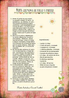 Sopa cremosa de pollo y puerro Favorite Recipes, Journal, Food, Wordpress, Butter, Cooking, Gastronomia, Salad, Easy Food Recipes