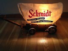 SCHMIDT LIGHT UP COVERED WOODEN BEER WAGON BREW GREW WITH THE GREAT NORTHWEST