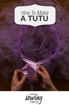 Whether you are making a #tutu as part of a Halloween costume or just a fun accessory for dress-up, you can get the kids involved with this easy no-sew project. Stacy Grissom shows you how to turn strips of #tulle into a fun tutu, varying the lengths and widths of the tulle for different looks and even adding pops of color with ribbon. http://www.nationalsewingcircle.com/video/how-to-make-a-tutu-007543/?utm_source=pinterest&utm_medium=organic&utm_campaign=A220 #LetsSew #Sewing