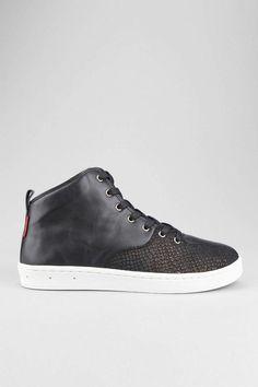 Gourmet Black Scale Quattro Sneaker
