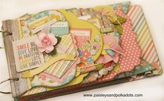 Mini scrapbook album simple stories.