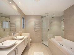 Beaucoup d\'idées en photos pour une salle de bain beige | Sol salle ...