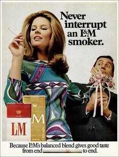 Vintage Cigarette Advert Poster