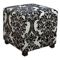 Damask Cube Ottoman i want this in my room Damask Decor, Damask Bedding, Fabric Decor, Damask Bedroom, Parisian Bedroom, Luxury Bedding, Art Nouveau, Art Deco, My New Room