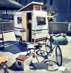 I want to build a very small RV that can be pulled by a bike!