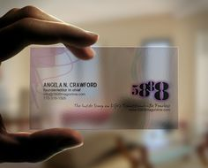 Transparent business card 3 transparent plastic business cards transparent business cards financial investment httpbce online reheart Image collections