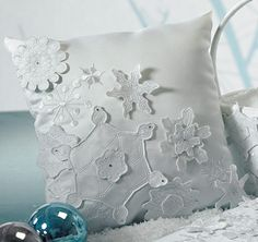 Winter Finery Ring Bearer Pillow from TheWeddingOutlet.com