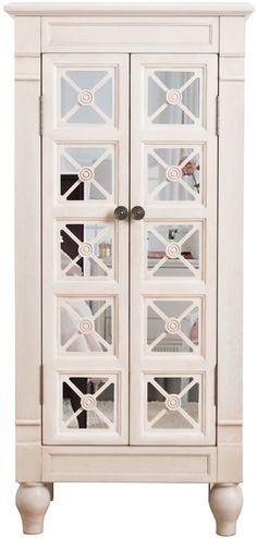 White Jewelry Armoire Jewelry Box Jewelry Storage Chest Jewelry Holder Organizer #HivesHoney #Jewelry #Box #Storage #Organizer