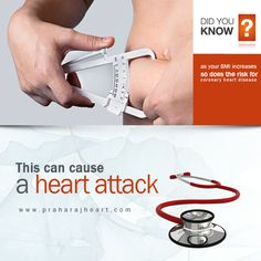 As your BMI increases so does the risk for coronary #HeartDisease. It is typically a condition in which a waxy substance (plaque) builds up inside the coronary arteries. The arteries are responsible for supplying oxygenated blood to your heart. Plaque deposition can narrow down or even can block the coronary arteries and thus can reduce the oxygenated blood flow to the heart muscle. This can cause a #HeartAttack. #Obesity