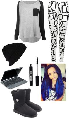 """bored at home"" by katrinaluv1d ❤ liked on Polyvore"