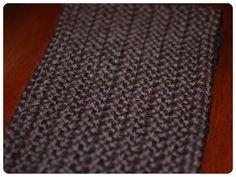 Herringbone half double crochet infinity scarf