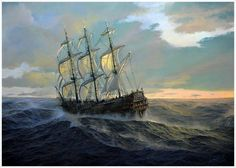 a stout lookin' ship. Hopefully wit a belly full a gold an' a cannon crew that's asleep!!