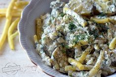 Sałatka ziemniaczana z fasolką szparagową – Smaki na talerzu Potato Salad, Grilling, Food And Drink, Potatoes, Chicken, Meat, Ethnic Recipes, Crickets, Potato