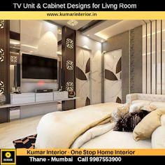 tv unit designs for drawing roomneelkanth palms krishna b wing interior designer Thane unit Big Living Room Tv Unit, Living Room Modern, Living Room Designs, Modern Tv Unit Designs, Modern Tv Units, Tv Set Design, Design Ideas, Livng Room, Tv Cabinet Design
