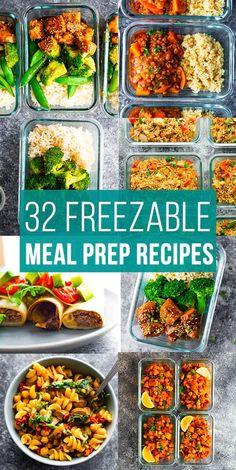 Freezer Friendly Meals, Vegetarian Freezer Meals, Healthy Freezer Meals, Vegetarian Meal Prep, Freezer Prep Meals, Freezer Meal Recipes, Meal Prep Recipes, Healthy Crockpot Freezer Meals, Healthy Meal Prep Lunches