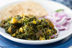Meatless Monday: Methi Aloo (Fenugreek Leaves & Potato cooked in warm Indian spices)