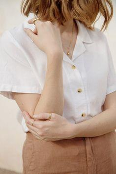 Me & Arrow Button Down Shirt in White