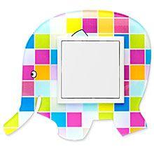 90910_KS: 1 - rámček, farebný slon