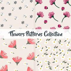 flowers patterns collection