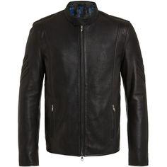 RADDAR7 - Rocker Leather Bomber Jacket ($415) ❤ liked on Polyvore featuring men's fashion, men's clothing, men's outerwear, men's jackets, mens leather flight jacket, mens leather bomber jacket, mens leather jackets and mens bomber jacket