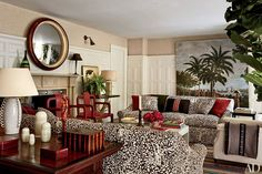 China Seas Arbre de Matisse Reverse design by Michael S Smith featured in Architectural Digest Matisse, London Mansion, London House, Architectural Digest, Living Room Designs, Living Spaces, Living Rooms, Family Rooms, Grace Home