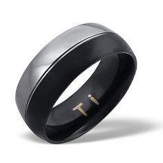 BLACKS - pánsky Titánový prsteň, veľkosť: 62 Ergonomic Mouse, Titanic, Computer Mouse, Design, Rings, Pc Mouse, Mice