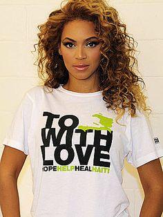 Beyoncé - the spokeswoman for 'Fashion For Haiti'
