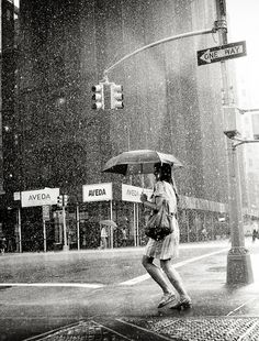 I love black and white rain pictures... specially when there is umbrella involved(: