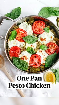 Pesto Chicken, Dump Chicken, Cooking Recipes, Healthy Recipes, One Pot Meals, How To Cook Chicken, Quick Meals, The Fresh, Italian Recipes