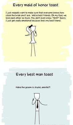 @Danni Whaley if this is how its supposed to be why then do I feel i'll say something like the Best man toast??