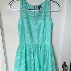 Geometric Lace Skater Dress Has a sweetheart neckline with the lace continuing to the neck. Silver zipper on back. Very soft lace Dresses Mini