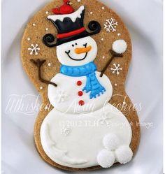 Hombre de nieve en galletas