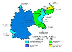 German Territorial Losses 1919 - 1945