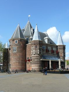 De Waag, Nieuwmarkt, Amsterdam, Holland. By Canadian Pacific
