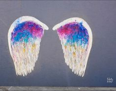 Angel Wings. Photo by Sean Davis/Flickr; painted wings by Colette Miller.