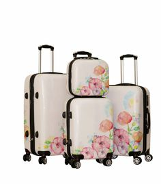 Zota 4 Piece Traveler Hardside Spinner Luggage Set With Cover Cute Luggage, Best Luggage, Vintage Luggage, Luggage Sets, High School Bags, Moving To Idaho, Cute Suitcases, Hardside Spinner Luggage, Suitcase Set