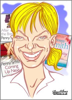 Caricature from photo of TV presenter Penny Smith. Caricatures and Cartoons by the Caricaturist in London, Simon Ellinas
