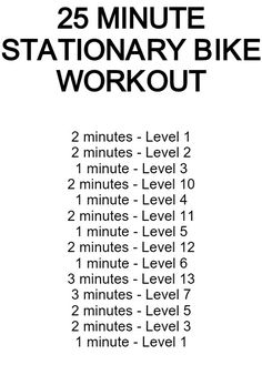 Bike Exercise Routine Diy Cardio Bike Exercises