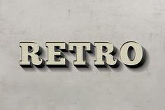 Retro Text Effect #text #retro