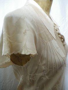 1920s/ 1930s silk lingerie nightdress perfect by Emmathreadneedle, $70.00