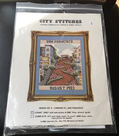 SEALED Thank You For Not No Smoking Counted Cross Stitch Kit Stained Glass 8x10