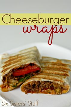 Wraps A new spin on the classic cheeseburger. A healthy wrap with some lean beef. These are amazing!A new spin on the classic cheeseburger. A healthy wrap with some lean beef. These are amazing! Cheeseburger Wraps, Cheeseburger Eggrolls, Cheeseburger Chowder, Cheeseburger Casserole, Tacos, Tostadas, I Love Food, Good Food, Yummy Food