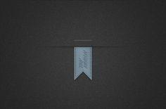 Tiny Vertical Blue Ribbon (Psd) | Blugraphic