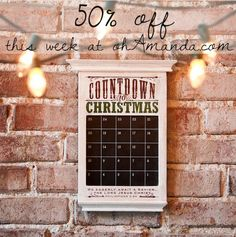 Redeemed Countdown to Christmas Chalkboard Advent Calendar from Dayspring // 50% off this week only with code at ohAmanda.com