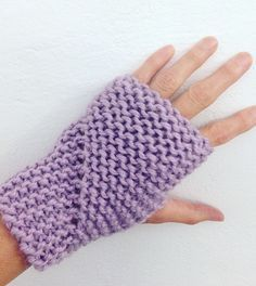 Free Knitting Pattern for Easy Hand Sleeves - These fingerless mitts are knit flat in garter stitch and seamed. Rated very easy by Ravelrers. Designed by Claire Garland