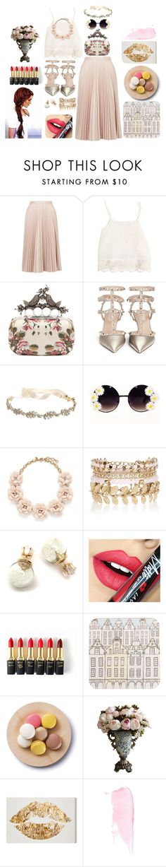 """""""Untitled #64"""" by hien-anhhs on Polyvore featuring Topshop, Swell, Alexander McQueen, Valentino, Marchesa, J.Crew, River Island, Fiebiger, L'Oréal Paris and Rosa & Clara Designs"""